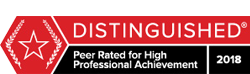 Martindale distinguished 2018 badge